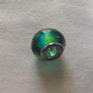 Jewelry - Colour Glass Bracelet Charm.